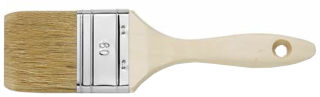 WESTEX Pinceau plat, soie naturelle claire, épaisseur 9