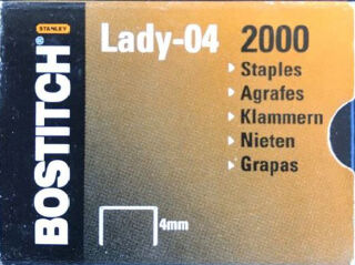BOSTITCH Agrafes Lady-04, 4 mm, galvanisé