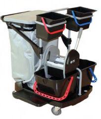 TASKI Chariot de ménage DI Enviro Trolley Wet, noir / gris