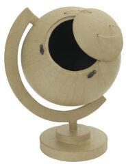 décopatch Globe en papier mâché, brun naturel