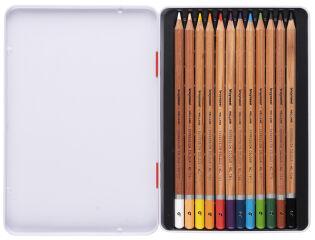 bruynzeel Crayons de couleur Expression, étui en métal de 12