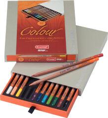 bruynzeel Crayon de couleur design Colour, boîte de 12