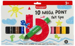 bruynzeel Feutre Kids MEGA, largeur de tracé: XL, étui de 10