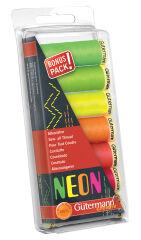 Gütermann Set de fils à coudre 'Neon', 7 bobines