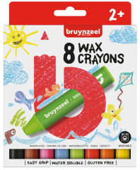 bruynzeel Crayons à la cire Kids, étui en carton de 8