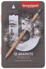 bruynzeel Crayon à papier Expression, étui métal de 12