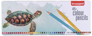 bruynzeel Crayon de couleur Tortue, étui en métal de 45