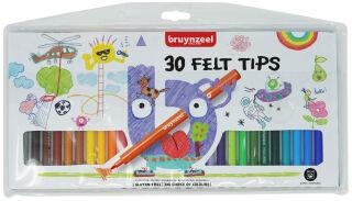 bruynzeel Feutre Kids, largeur du tracé: F, étui de 30