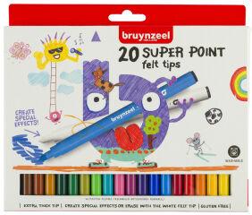 bruynzeel Feutre Kids SUPER, largeur de tracé: L, étui de 20