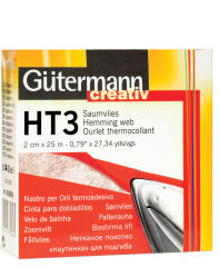 Gütermann Ourlet thermocollant HT3, 30 mm x 10 m, blanc
