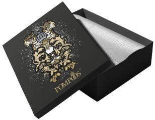 RÖMERTURM POMPÖÖS Boîte cadeau 'Léopards', 210 x 310 mm