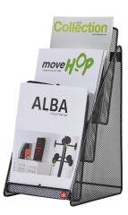 ALBA Porte-brochures de table 'MESHPREZA5', A5 portrait,noir