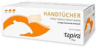 Tapira Essuie-mains Plus, 203x320 mm, plié en W, extra blanc