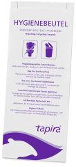 Tapira Sac hygiénique en papier, imprimé, blanc