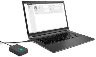 TimeMoto Lecteur d'empreintes digitales USB FP-150, noir