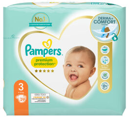 Pampers Couches Premium Protection, taille 3 Midi