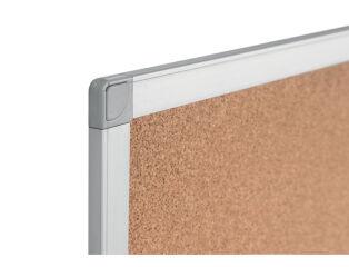 Bi-Office Tableau en liège AYDA, cadre alu, 600 x 450 mm