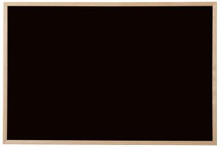 Bi-Office Tableau noir, bois naturel, 900 x 600 mm, noir