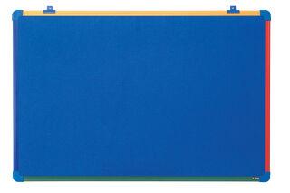 Bi-Office Tableau en feutre pour enfants Schoolmate, bleu