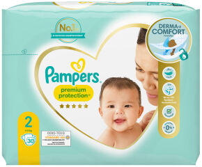 Pampers Couches Premium Protection New Baby, taille 2 Mini