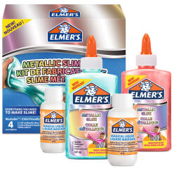 ELMER'S Slime Kit 'Metallic Slime Kit', 4 pièces