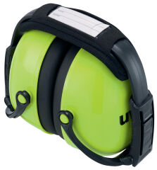 uvex Coquille anti-bruit K2, pliable, vert fluo
