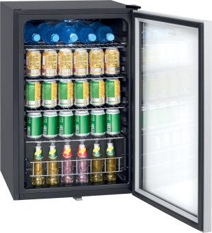 BOMANN Réfrigérateur à porte vitrée KSG 7283, noir