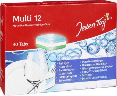 Jeden Tag Pastilles lave-vaisselle multi 7, carton de 40
