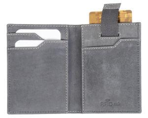 PRIDE&SOUL Porte-cartes de crédit, RFID, en cuir, gris