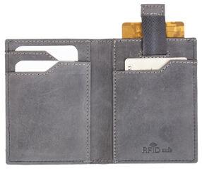 PRIDE&SOUL Porte-cartes avec porte-monnaie, RFID, gris