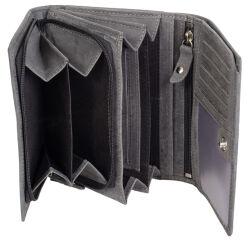 PRIDE&SOUL Portefeuille pour dames RFID, en cuir, gris