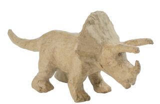 décopatch Support en papier mâché 'Tricératops', 90 mm