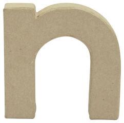 décopatch Lettre 3D 'n', papier mâché, 85 x 85 mm