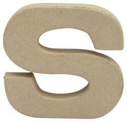 décopatch Lettre 3D 's', papier mâché, 85 x 85 mm