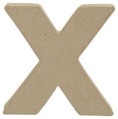 décopatch Lettre 3D 'x', papier mâché, 85 x 85 mm