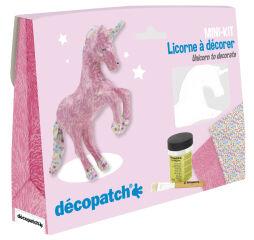 décopatch Kit papier mâché 'Licorne', 5 pièces