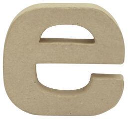 décopatch Lettre 3D 'e', papier mâché, 90 x 85 mm