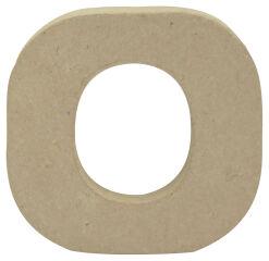 décopatch Lettre 3D 'o', papier mâché, 90 x 85 mm