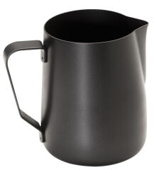 APS Pichet à lait universel, acier inoxydable noir, 0,8 l