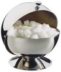 APS Sucrier boule à couvercle coulissant, acier inoxydable