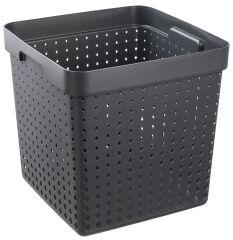 plast team Bac de rangement SEOUL BASKET XL, noir